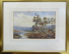 PHILIP RICKMAN, 19th Century watercolours, a pair, one signed, 30cm x 22cm and 17cm x 25cm,