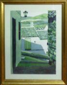LYNNE BERNBAUM (Contemporary American) 'Alley', 1996, watercolour, signed lower right, 50cm x 35cm,