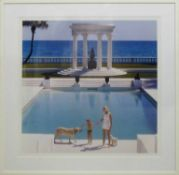 AFTER SLIM AARONS 'Once upon a Time', photoprint, 94cm x 94cm, acrylic glazed in white frame.