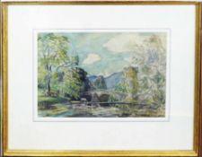 HESTER FROOD (Australian 1882-1971) 'Bridge near Keswick', signed lower right,