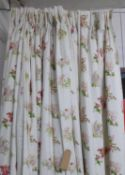 CURTAINS, two pairs, flower fairies, lined and interlined,