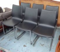 DINING CHAIRS, a set of six, contemporary, 86cm H.