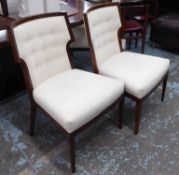 DINING CHAIRS, a set of eight, by Bolier in a cream fabric on square supports, 60cm W.