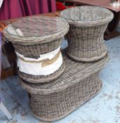 GARDEN COFFEE TABLE, in a woven all weather material,