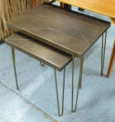 NEST OF TABLES, a pair, 1960's Danish style, 55cm W largest.