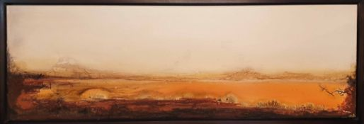 CAROLE GRASLAN 'Desert Landscape', 2006, mixed media on canvas, signed and dated verso,