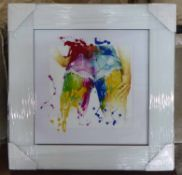 PATRICE MURCIANO, paint splash derriere, 55cm x 55cm.