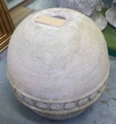 URN, with circular detail to side, approx 79cm H.