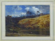 EDUARD HILDEBRANDT (1817-1869) 'A Cornfield', signed and dated 1851 lower right,