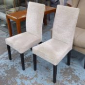 DINING CHAIRS, a set of eight, by Andrew Martin high back 103cm H x 47cm.