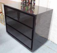 CHEST OF DRAWERS, contemporary, black lacquered finish, 100cm x 50cm x 80cm.