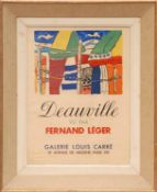 FERNAND LEGER, Deauville lithographic poster, printed by Mourlot, 60cm x 44cm.