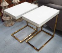 SIDE TABLES, a pair, 1960's French style, 56cm H.