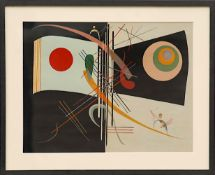 WASSILY KANDINSKY, 'Lithograph 1', printed by Maeght 1969, 34cm x 45cm.