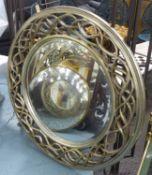 WALL MIRROR, contemporary design, silvered frame, 110cm Diam.