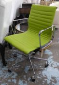 AFTER CHARLES AND RAY EAMES, aluminium group style desk chair, 94cm H.
