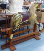 ROCKING HORSE, polychrome finish, 130cm H.