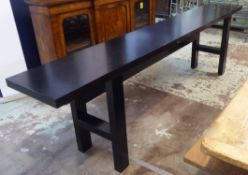 CONSOLE TABLE, French Art Deco style, 290cm x 45cm x 81cm.