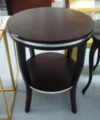 SIDE TABLE, French Art Deco style, with metal accent, 75cm H.