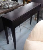 CONSOLE TABLE, contemporary design, two drawers, 120cm x 30cm x 86cm.