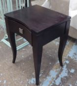 SIDE TABLES, a pair, contemporary design, with one drawer each, 45cm x 40cm x 60cm.