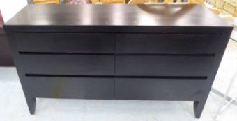 SIDEBOARD, contemporary design, ebonised finish, 150cm x 45cm x 86cm.