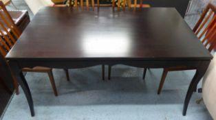 DINING TABLE, contemporary design, shaped surround, 150cm x 90cm x 75cm.