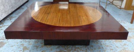 COCKTAIL TABLE, 1970's Italian style bamboo, 100cm x 100cm x 28cm.