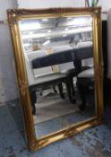 MIRROR, Continental style, gilt finish, 106cm x 74cm.