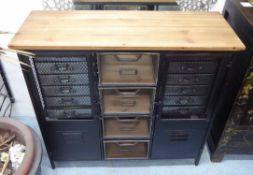 SIDEBOARD, industrial steam punk style, 93cm x 34cm x 88cm.
