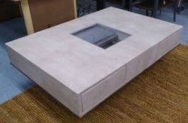 BOND & BEYOND BOOK AND COFFEE TABLE, 130cm x 90cm x 40cm.