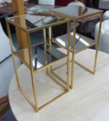 SIDE TABLES, a pair, 1960's French inspired, 30.5cm sq. x 61cm H.
