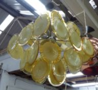 ATTRIBUTED TO VISTOSI MURANO CHANDELIER, 90cm drop approx.