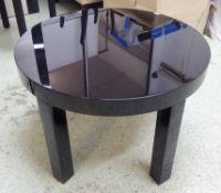 ARMANI CASA OTTAWA LOW TABLE, by Giorgio Armani, 70cm Diam x 46cm H (with faults).