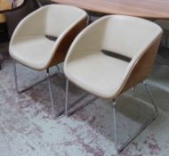 HÜLSTA D5-2 DINING CHAIRS, a set of six, 76cm H x 53cm W x 55cm D overall.