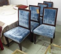 NINA CAMPBELL DINING CHAIRS, a set of eight,