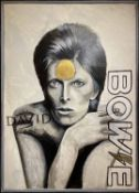 CLIVE FREDRIKSSON 'David Bowie', oil on board, framed, 90cm x 64.5cm.
