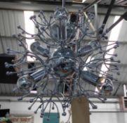 SPUTNIK STYLE CEILING PENDANT, six branch light, 65cm drop.