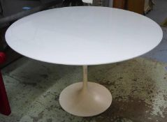 AFTER EERO SAARINEN TULIP STYLE DINING TABLE, 120cm diam x 73cm H (with faults).