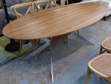 ATTRIBUTED TO HÜLSTA ET1100 DINING TABLE, 220cm x 110cm x 76cm. (slight wear to top)