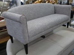 SOFA, in the contemporary country house style, light grey upholstered, 73cm x 85cm H x 175cm.