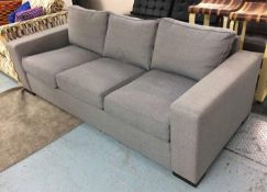 KINGCOME SOFA, grey upholstery, 125cm wide approx.