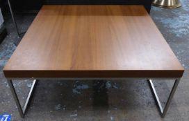 LOW TABLE, contemporary Danish style, 92cm x 92cm x 40cm. (slight faults)