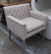 ARMCHAIR, contemporary country house style, buttoned, 80cm H.