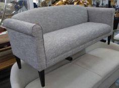 AARK SOFA, light grey upholstered, 73cm x 85cm H x 175cm.