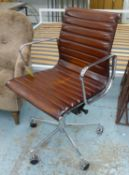 AFTER CHARLES AND RAY EAMES, aluminium group style desk chair, 100cm at tallest (with slight
