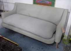 JUSTIN VAN BREDA SOFA, white fabric finish, 217cm W approx. (with faults)
