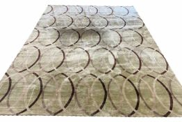 THE RUG COMPANY, 365cm x 275cm, 'Infinity Green' by Allegra Hicks, hand knotted silk (no label and