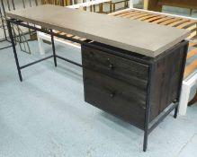 DESK, contemporary design concrete top with two drawers, 161cm x 50cm x 76cm.