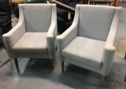 JUSTIN VAN BREDA ARMCHAIRS, a pair, 100cm H. (2) (with faults)